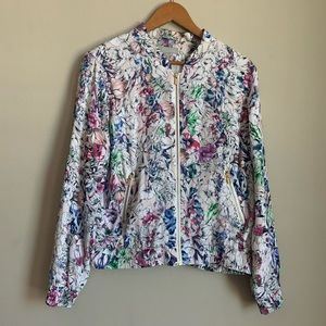 H&M Floral full zip Jacket size 12